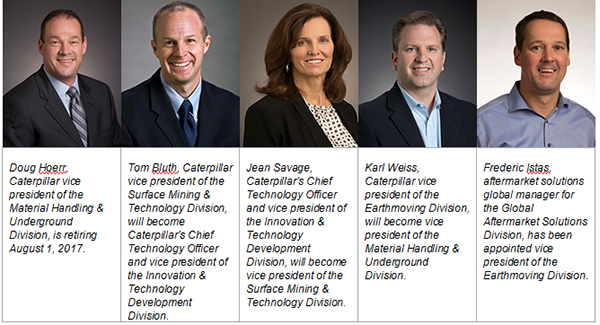 Caterpillar vice president appointments