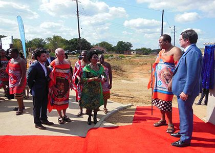 King Mswati III and other dignitaries
