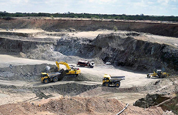 In pit mining at Lerala temporarily suspended