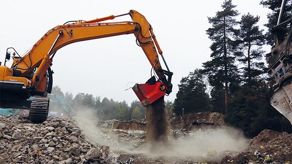 ALLU Transformer DN 3 17 TS processing demolition waste