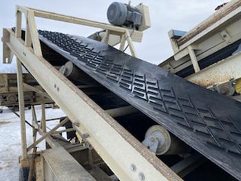 New patent pending conveyor belt tech for aggregates